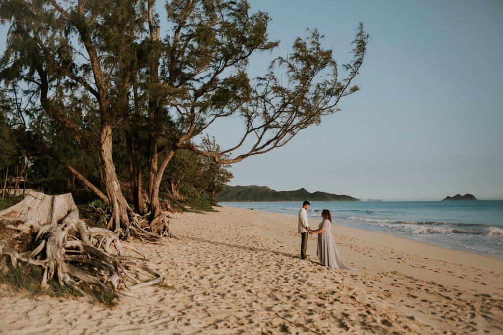Ślub na Hawajach,waimanalo beach wedding, Sesja ślubna na Hawajach, wedding sesion Hawaii, Hawaii wedding photographers
