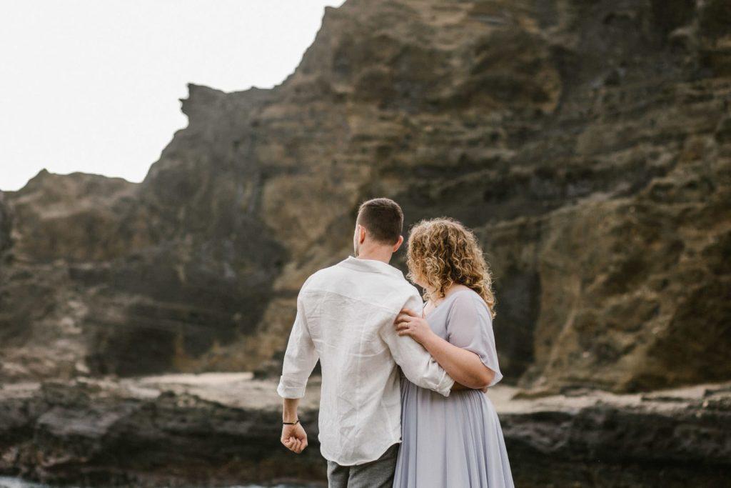 Ślub na Hawajach, halona beach cove wedding session