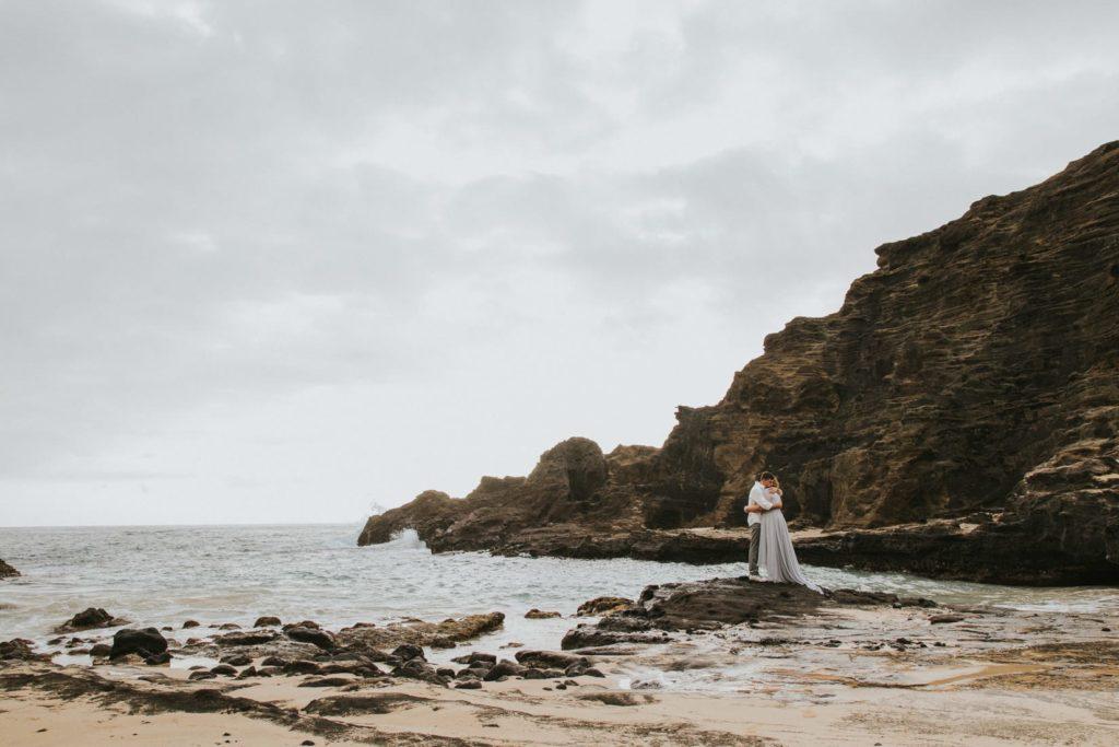 halona beach cove wedding session